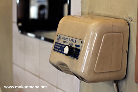 classic hand dryer Tip Top Restaurant, Lunch room, Bakery and Cake Shop