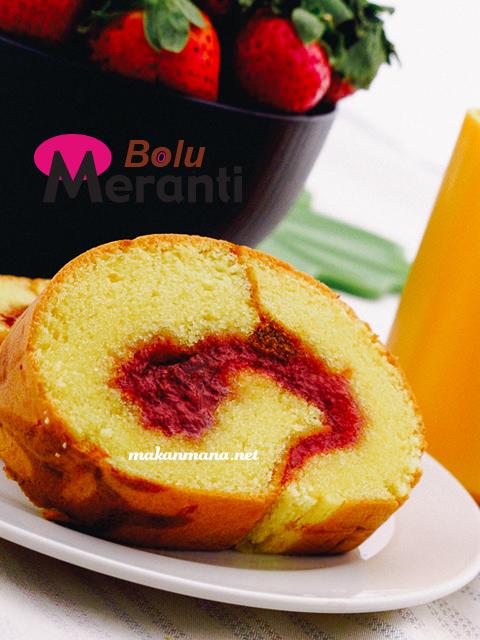 bolu gulung meranti strawberry slice Bolu Meranti