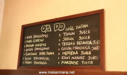 ondo menu OnDo Batak Grill
