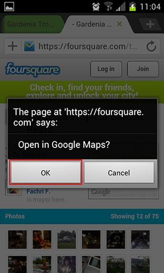 Cari tempat makan dengan Foursquare dan Google Maps 3