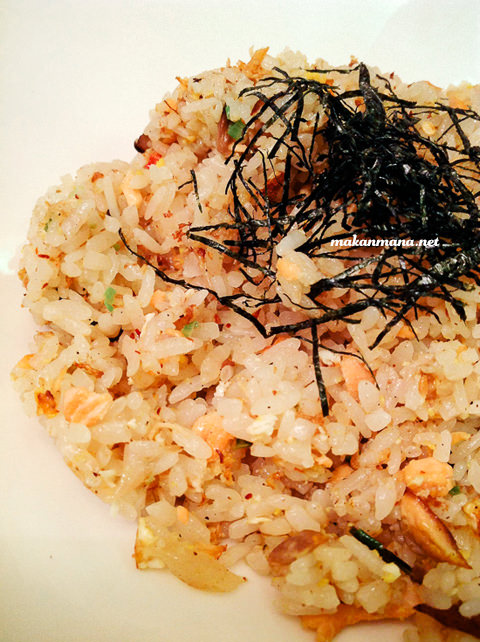 salmon fried rice