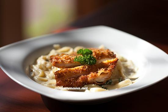 Fettucine Alfredo Chicken Katsu