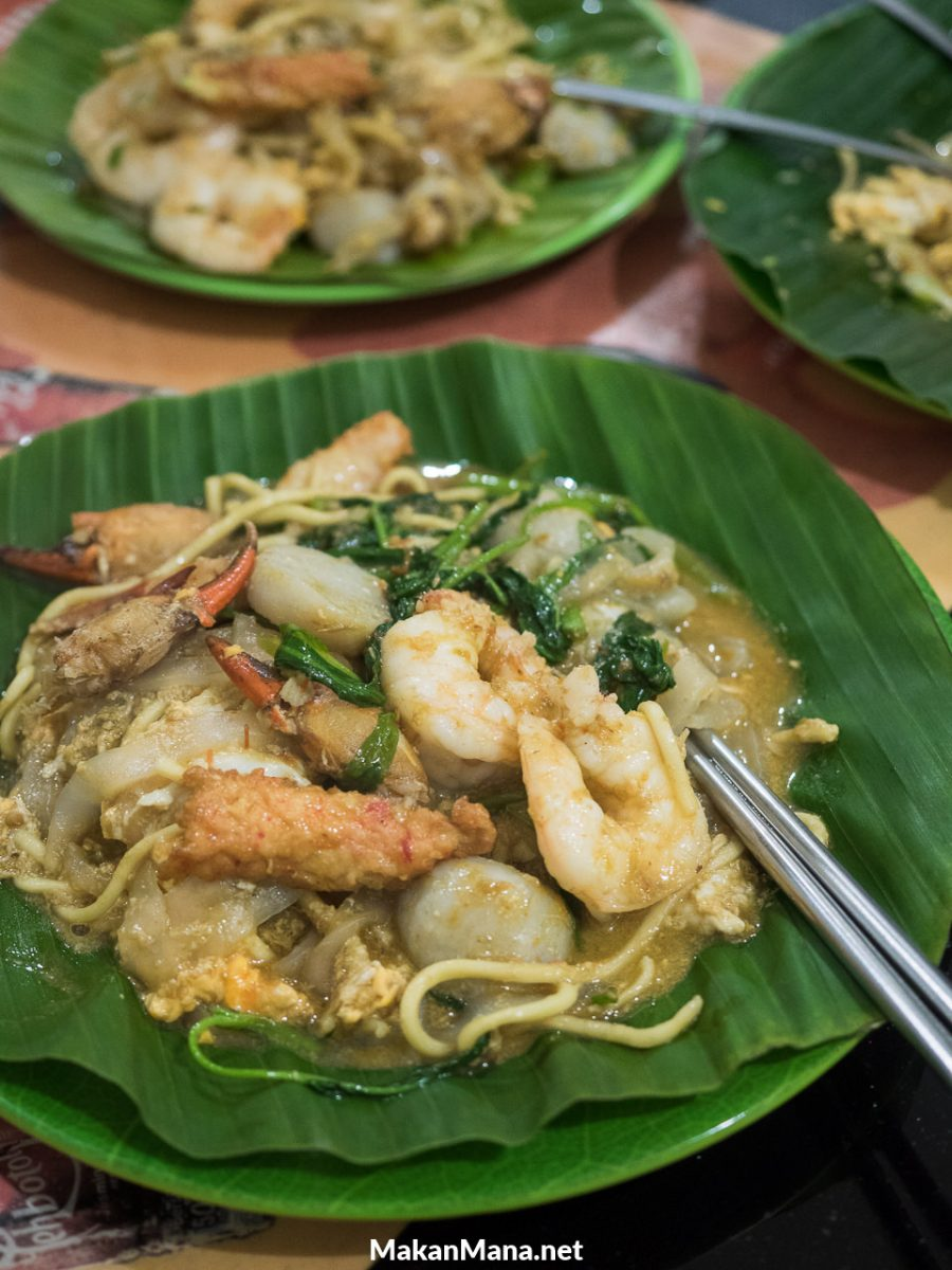 Mie campur kwetiaw kangkung belacan (30rb)