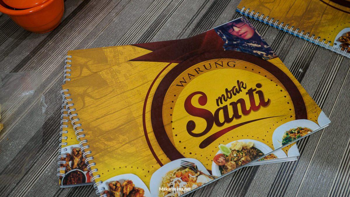 warung mbak santi buku menu